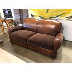 VINTAGE LEATHER CLUB SOFA - 1046558
