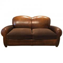VINTAGE LEATHER CLUB SOFA - 1046563