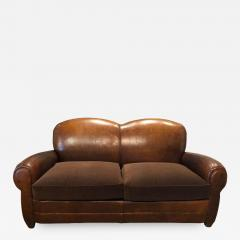 VINTAGE LEATHER CLUB SOFA - 1048566