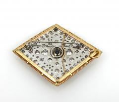 VINTAGE TANZINITE DIAMOND PIN OR PENDANT ROSE AND WHITE GOLD - 1089769