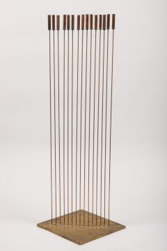 Val Bertoia Large Val Bertoia 15 Rod Curve of Sounding Cat Tails Sculpture 2016 - 1181384