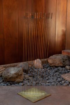 Val Bertoia Large Val Bertoia 15 Rod Curve of Sounding Cat Tails Sculpture 2016 - 1181391