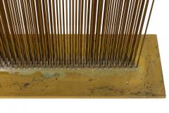 Val Bertoia Linear Four Row Copper and Brass Sonambient Sculpture - 1223946
