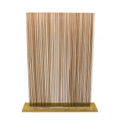 Val Bertoia Linear Four Row Copper and Brass Sonambient Sculpture - 1223948