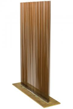 Val Bertoia Linear Four Row Copper and Brass Sonambient Sculpture - 1223949