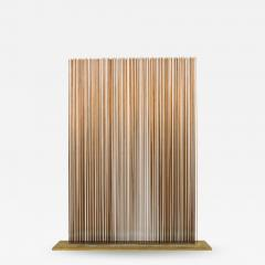 Val Bertoia Linear Four Row Copper and Brass Sonambient Sculpture - 1223968