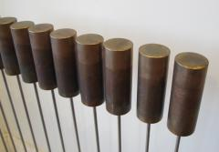 Val Bertoia Steel Rods with Brass Cylinder Chimes  - 947043