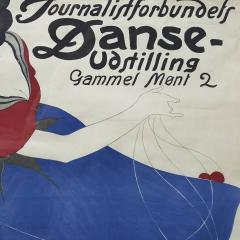 Valdemar Andersen LITHOGRAPHIC POSTER DANCE EXHIBITION BY THE DANISH ASSOCIATION OF JOURNALISTS - 2135806