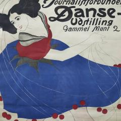 Valdemar Andersen LITHOGRAPHIC POSTER DANCE EXHIBITION BY THE DANISH ASSOCIATION OF JOURNALISTS - 2135807