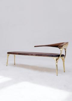Valentin Loellmann Brass and Walnut Lounge Chair - 1019888