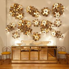 Valerie Wade Small double Lotus flower wall light - 828613