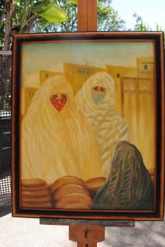 Valery Ivanovich Jacobi Orientalist Painting of Veiled Women - 1070086