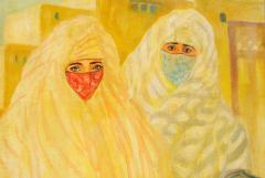 Valery Ivanovich Jacobi Orientalist Painting of Veiled Women - 1070089