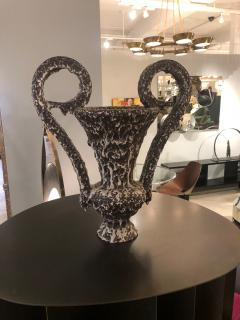 Vallauris Amphora Vase With Lava Glaze - 964659