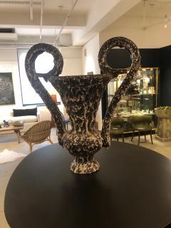 Vallauris Amphora Vase With Lava Glaze - 964660