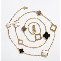Van Cleef Arpels Chloe a Rare Limited Edition 18K Gold Alhambra Necklace - 1217862