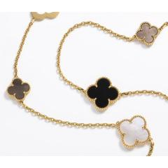 Van Cleef Arpels Chloe a Rare Limited Edition 18K Gold Alhambra Necklace - 1217868