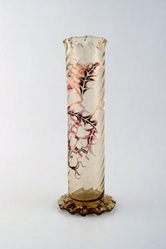 Vase in clear frosted art glass - 1322244