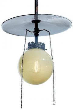 Vaseline Glass Gas Lamp - 507821