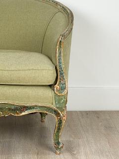 Venetian Painted Tub Chair Italy Circa 1800 - 1641023