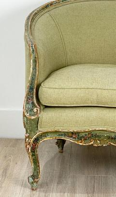 Venetian Painted Tub Chair Italy Circa 1800 - 1641024