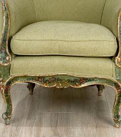 Venetian Painted Tub Chair Italy Circa 1800 - 1641025
