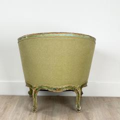 Venetian Painted Tub Chair Italy Circa 1800 - 1641030
