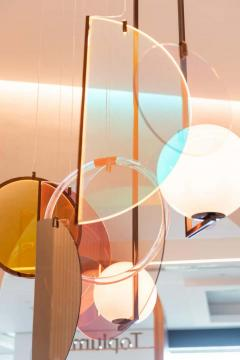 Vera Edith Dieckmann Monumental Glass Colorful Light Installation by Vera Dieckmann - 1474983