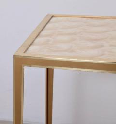 Vereinigte Werksta tten Brass and Mother of Pearl Side Table by Vereinigte Werkst tten M nchen - 1114094