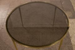 Vereinigte Werksta tten Golden Circular Brass Coffee Table by Vereinigte Werkst tten 1960ies - 822377