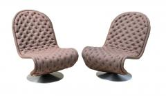 Verner Panton Pair of Verner Panton Tufted 123 Lounge Chairs - 1775695