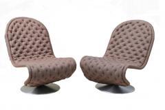 Verner Panton Pair of Verner Panton Tufted 123 Lounge Chairs - 1775699
