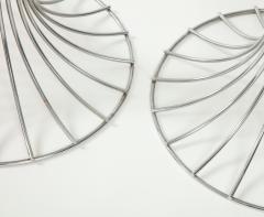 Verner Panton Pair of chrome table lamps by Verner Panton for Fritz Hansen Denmark 1960s - 1793633