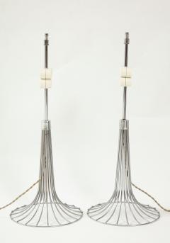 Verner Panton Pair of chrome table lamps by Verner Panton for Fritz Hansen Denmark 1960s - 1793637