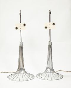Verner Panton Pair of chrome table lamps by Verner Panton for Fritz Hansen Denmark 1960s - 1793638