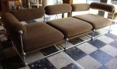 Verner Panton Rare set of one canap and two armchairs by Verner Panton S 420 serie - 918380