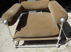 Verner Panton Rare set of one canap and two armchairs by Verner Panton S 420 serie - 918381