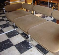 Verner Panton Rare set of one canap and two armchairs by Verner Panton S 420 serie - 918384