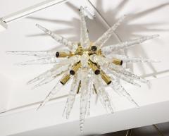 Veronese 1970s Stalactite Murano Glass Chandelier - 1196347