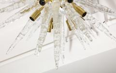 Veronese 1970s Stalactite Murano Glass Chandelier - 1196350