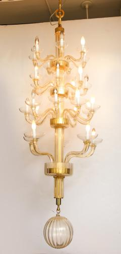Veronese One of a kind Murano glass chandelier attributed to Veronese - 878622