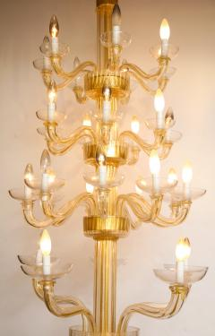 Veronese One of a kind Murano glass chandelier attributed to Veronese - 878626