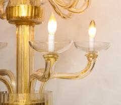Veronese One of a kind Murano glass chandelier attributed to Veronese - 878628