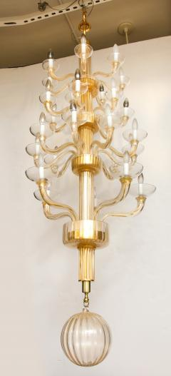 Veronese One of a kind Murano glass chandelier attributed to Veronese - 878630