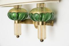 Veronese Pair of Murano glass sconces by Veronese - 1310050