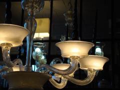 Veronese Seguso for Veronese Pulegoso glass chandelier Circa 1950  - 1410686