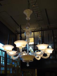 Veronese Seguso for Veronese Pulegoso glass chandelier Circa 1950  - 1410687