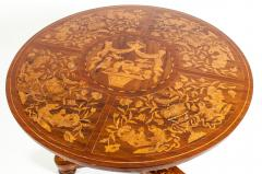 Very Fine 19th Century Dutch Marquetry Table - 1125514