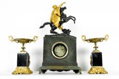 Very Fine Early 18th Century French Bronze Mantel Clock Set - 330605