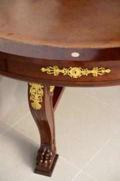 Very Fine French Empire Mahogany and Ormolu Mounted Rent Table Potheau - 391127